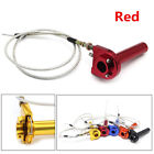 Red CNC Aluminum Throttle Turn Grip+Cable For Motorcycle 22mm Handlebar 50-125cc