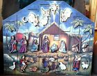 Nativity Advent Calendar Wooden by Byers Choice Traditions Christmas