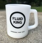 Vintage Fluid King Federal Milk Glass Advertising Cup / Mug
