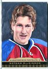 2014-15 UD Masterpieces Nathan MacKinnon Portraits SKETCH CARD 9 10 Aritst Auto