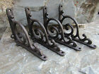 Lot of 4 Antique-Style Cast Iron Small Scroll 5.5