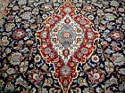 10X13 1940's SPECTACULAR FINE HAND KNOTTED 200KPSI ANTQ WOOL KASHANN PERSIAN RUG