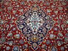 10X13 1960's BREATHTAKING FINE HAND KNOTTED ANTIQUE WOOL KASHANN PERSIAN RUG