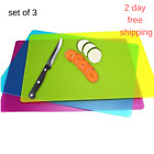 Flexible Plastic Cutting Board Vegetable Sheets Chopping Set Mats Durable