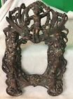 Art Nouveau Metal Picture  Frame, Very Ornate,