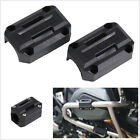 2 Pcs Black 22/25/28mm Motorcycles Engine Protector Bumper Blocks With Screw Kit