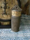 Antique Dark Tin Nutmeg Grater T.A. Baker Spice Works