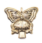 1973 Sterling Reed Barton Butterfly Whistle Christmas Ornament Pendant 2.5