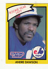 1990 KENNER STARTING LINEUP CARD ANDRE DAWSON MONTREAL EXPOS (YELLOW) - NM/MT