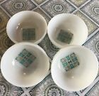 Vintage Anchor Hocking Blue Heaven Milk Glass Berry Bowls Set Of 4