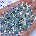 Hot fix Rhinestones Iron On Rhinestones For Clothes SS3 SS40 AB crystal ZZ996