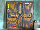 Old Country Wood Wooden Inlaid Checkers Chess Game Board GAMEBOARD Walnut Maple