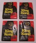 1976 TOPPS KING KONG 4 WAX PACKS TRADING CARDS SEALED UNOPENED MOVIE STICKER P2