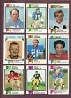 LOT OF (1,600) ASSORTED 1973 TOPPS FOOTBALL CARDS (VG-EX to EX-MT) *GMCARDS*