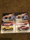 Hot Wheels 55 Chevy Bel Air Gasser Snake  Mongoose 2 Car Custom Set Carded
