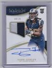 2015 IMMACULATE TODD GURLEY ROOKIE AUTOGRAPH 2 COLOR PATCH #D 09 25 SP RC RAMS