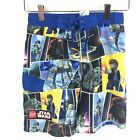 Lego Star Wars Boys Size 6 Swim Suit Shorts Trunks Jedi Fight Scene