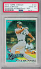 2010 Giancarlo Stanton Topps Chrome Wrapper Redemption-ref PSA 10 Rookie Card