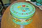 Paint Decorated Early Antique Pantry Box Floral Design Amish Decorated Primitive