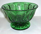 VTG ANCHOR HOCKING FAIRFIELD FOREST EMERALD GREEN GLASS FOOTED CANDY DISH BOWL