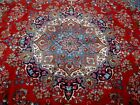 12.6X9.6 1940's EXQUISITE FINE ANTIQUE HAND KNOTTED WOOL KHORASAN PERSIAN RUG
