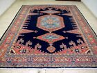 9X12 1940s EXQUISITE FINE ANTIQUE HAND KNOTTED PRESTIGIOUS WOOL VISS PERSIAN RUG