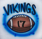 Airbrushed Football with Team Name Shirt Personalized with name