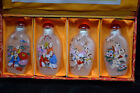 Chinese Collectible Glass Handwork Lucky Baby Set 4 Rare Antique Snuff Bottle