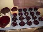 Vintage Royal Ruby Red Anchor Hocking Dinnerware for 8 (New Old Stock)