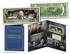 APOLLO 11 NASA Moon Landing 50th ANNIVERSARY Official 2 Bill in LARGE DISPLAY