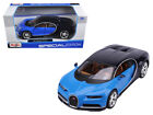 BUGATTI CHIRON BLUE DARK BLUE 124 DIECAST MODEL CAR BY MAISTO 31514