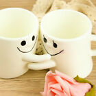 Set 2 Mugs Hug Me Im Greek Valentine Love Red Heart Ceramic White Greece USA