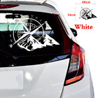 Car SUV Hood Sticker White Compass 48x34cm Vinyl Decal Fit For Body Door Window
