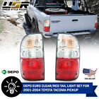 DEPO JDM Style Red Clear Rear Tail Lights + Bulbs For 2001 2004 Toyota Tacoma
