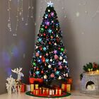 6 7Ft Pre Lit Artificial Christmas Tree Hinged w 350 LED Lights