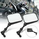 Pair Motorcycle Mirrors 10mm Handlebar For Suzuki DR200 DR250 DR350 DRZ400 DR650