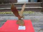 Resin made Faux Hand Carved Wooden Eagle on Base  stunning large great copy