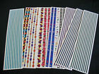 CREATIVE MEMORIESGreat Lengths LOT OF 7 LOOSE LINES DANCE1970 FLORAL STICKERS