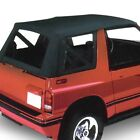 For Geo Tracker 89 94 Replay Black Denim Fabric Replacement Soft Top