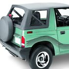 For Geo Tracker 96 97 Replay Black Denim Fabric Replacement Soft Top