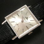 Mens 1960 Jaeger LeCoultre 10K WGF 17j Swiss Made Florentine Engraved K480 Watch