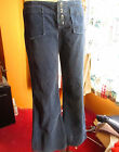 32x28 sz 8 True Vtg 60s WOMENS HIPHUGGER CORDUROY HIPPY BELLBOTTOM RELIC JEANS