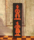 Vintage Primitive Carved Springerle Cookie Mold Board Gingerbread Man