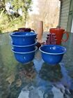 Set 4 BOUILLON lapis blue HOMER LAUGHLIN FIESTA 6 3/4 OZ  NEW