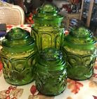 LE Smith Green Moon and Stars 4-Pc. Canister Set with Lids