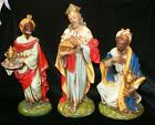 VINTAGE ITALY PAPER MACHE 3 WISEMEN KINGS FOR LARGE 12 CHRISTMAS NATIVITY SET