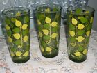 Continental Can Company Green Leaf Tumblers/Glasses - Set of 3