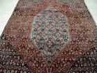 9X6 1940's EXQUISITE FINE ANTIQUE HAND KNOTTED ROOM SIZE WOOL BIDJAR PERSIAN RUG