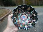 Gorgeous Contemporary Fenton Amethyst Carnival Glass Bowl Holly Pattern