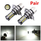 2X H4 9003 HB2 66-LED 100W Motorcycle Headlight DRL Fog Lamp Driving Light Bulbs